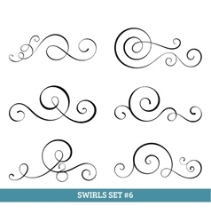 Calligraphic swirls collection vector image