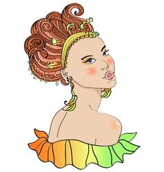 carnaval girl vector image