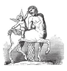 Chiron Centaur vintage engraving vector