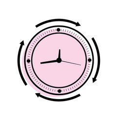 clock icon in trendy flat style isolated on vector image