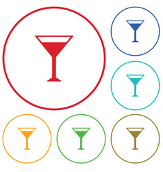 cocktail glass sign with martini vodka icon vector image