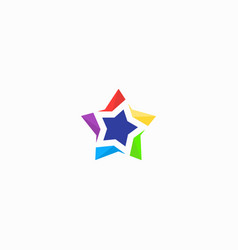 colorstar logo colorful image vector image