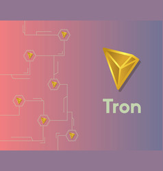 Cryptocurrency tron blockchain circuit network vector