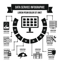 Data service infographic concept simple style vector