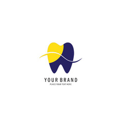 Dental care symbol logo vector