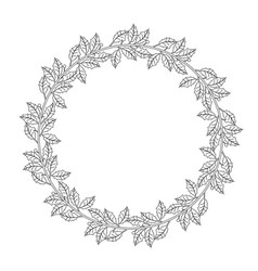design of bow of branches of holly vector image