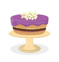 Dessert cake design vector