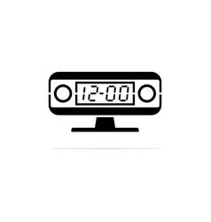 digital clock icon concept for vector image