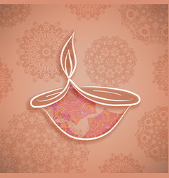 diwali background traditional indian holiday vector image