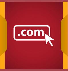 Domain com icon vector