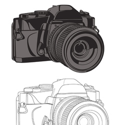 Dslr camera set vector