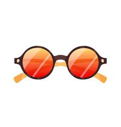 fashion round sunglasses stylish retro sun vector image