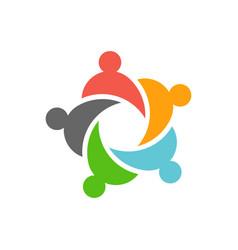 five business teamwork people logo design vector image