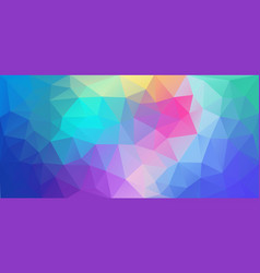 flat triangle background horizontal multicolor vector image