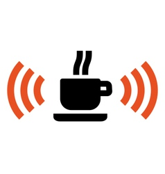 Free Wi-Fi zone in cafe vector image