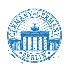 Germany logo design template Shabby stamp vector