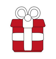 gift flat vector image