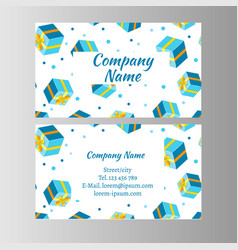gift voucher card vector image