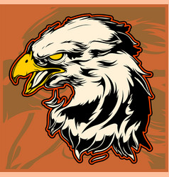 Graphic head of a bald eagle mascot vector