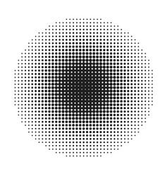 Halftone round dots stamp vector