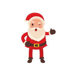 happy funny santa claus in flat style vector image