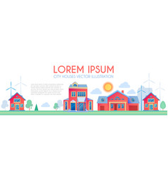 house exterior town landscape houses along vector image