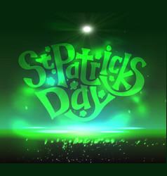 Illuminated greeting card for st patricks day vector