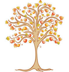 Image of a decorative apple tree vector