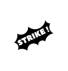 lettering strike wow win bingo flat icon vector image