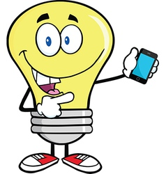 Light bulb with smart phone vector image
