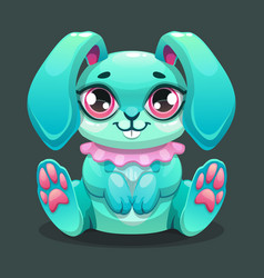 little cute cartoon sitting bunny vector image
