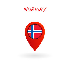 Location icon for norway flag eps file vector