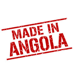 Made in angola stamp vector