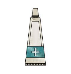 medical ointment bottle vector image
