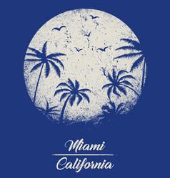 Miami - concept in vintage graphic style vector