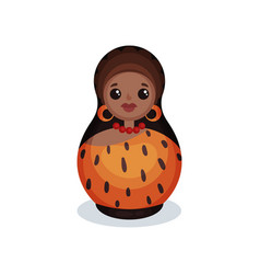nesting doll painted as prehistoric women wooden vector image