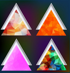 polygonal geometric shapes set of triangles on vector image