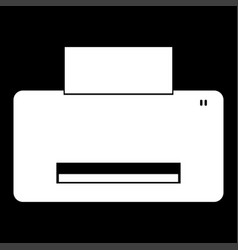 Printer it is the white color icon vector