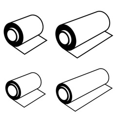 roll of any foil black symbols vector image