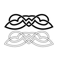 Scandinavian viking ornaments vector