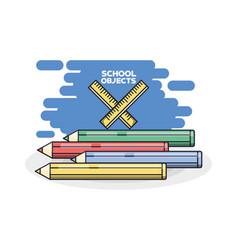 school supplies colored pencils vector image