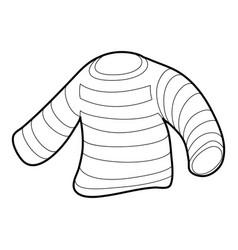 Seaman clothes icon outline vector