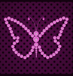 Seamless watercolor butterfly pattern vector