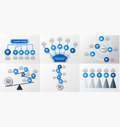 set of infographics elements design in concept of vector image