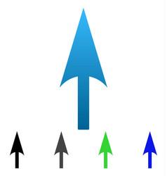 Sharp up arrow flat gradient icon vector