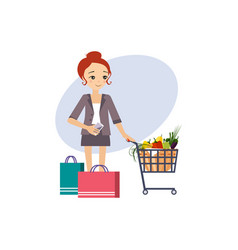 shopping daily routine activities of women vector image
