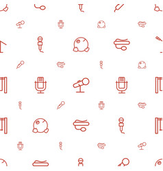 Sing icons pattern seamless white background vector