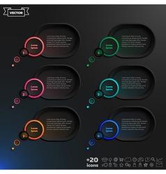 Speech bubble infographic elements vector