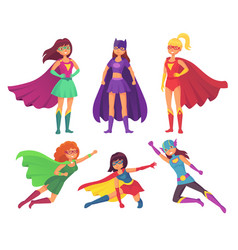 Superheroes women characters wonder female hero vector