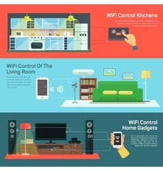 Technology wireless control on kitchen light vector image vector image